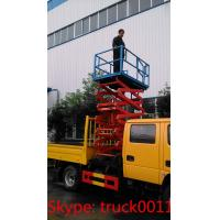 China hot sale dongfeng brand 14m aerial working platform truck with bucket, best price hydraulic aerial working bucket truck wholesale