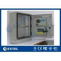 China Single Wall Stainless Steel Outdoor Telecom Cabinet With Cooling System / Air Conditioner Type Telecom Enclosure wholesale