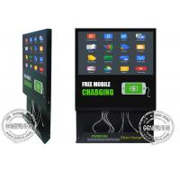 21.5inch Wifi Mobile Charging Cable inbuilt Advertising Screen, Android Remote Control Media Player Charging Station Manufactures