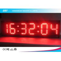 China Modern Small Led Clock Display , Semi Outdoor Accurate Wall Clock on sale