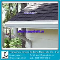 China Gary asphalt roofing tile with seamless rain gutter for roof decoration on sale