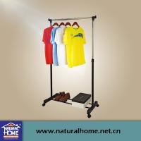 China Single Pole Portable Mobile Clothes Drying Racks with Wheels , Metal Clothes Hanger on sale