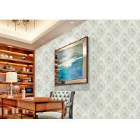 European Style Floral Beige Non Woven Wallpaper Decoration non woven wallcovering Manufactures