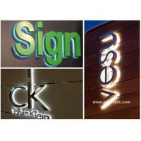 China Metal / Acrylic Illuminated Stainless Steel Signs Professional Production Advice on sale