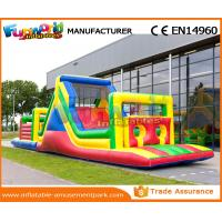 Giant Colorful Inflatable Kids Obstacle Course 0.55 MM PVC Tarpaulin With Air Blower Manufactures