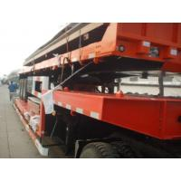 Hauler Truck Low Platform Semi Trailer , 3 Axle truck Trailer Low Bed For Road Transportation Manufactures