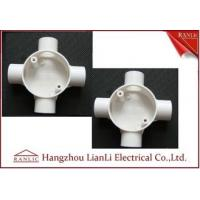 China Three Way Round PVC Electrical Conduit Junction Box BS4568 Custom Made wholesale