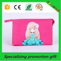 China Promotional Women Nylon Travel Cosmetic Bag Custom Printed Bags on sale