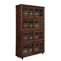 China Vintage Style Home Office Bookcase , Tall Slim Bookcase With Glass Doors wholesale