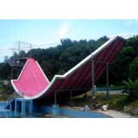 Commercial Giant Fiber Glass Water Slides , Red Blue Fiberglass Pool Slide Manufactures