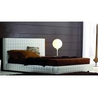 PU/PVC Leather Upholstered Bed, Upholstered Headboard, Modern Hotel Furniture Manufactures