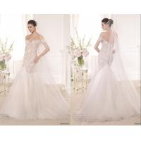 Short Sleeve Womens Wedding Dresses Plus Size , Backless Bridal Dress Manufactures