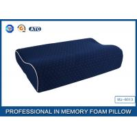 China China Supplier Blue Memory Foam Support Pillow Contour Wave Shaped wholesale
