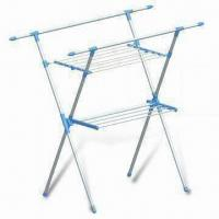 2 Tiers Stainless Steel Clothes Rack, Measures 135 x 70 x 130cm Manufactures
