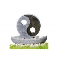 China 2 LED Lights Oriental Water Fountains , Home Garden Fountain In Taiji Diagram Shape 23 on sale