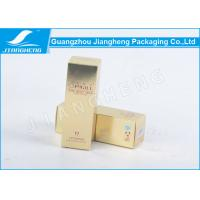 Gold Card Paper Custom Packaging Boxes Frosted UV Printing For Face Creams Manufactures