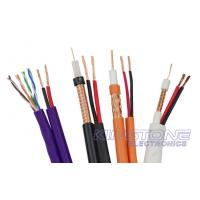 VR-90P Solid PE RG59 CCTV Coaxial Cable , 22 AWG BC with 2 × 0.75mm2 CCA Power