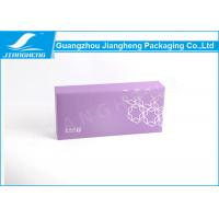 Packaging Box Used Purple Paper Corrugated Cardboard For Cosmetic Packaging Manufactures