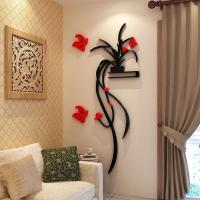 China Fashion Beautiful Flowers Bedroom wallpaper for living room 3d flower wall stickers decal wholesale