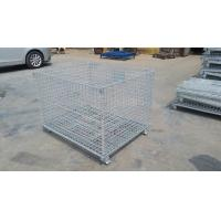 """China Durable Heavy Duty Four Wheels Wire Mesh Container Storage Cage with Caster 4"""" - 5"""" on sale"""