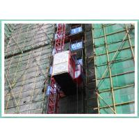 34m/Min Speed Construction Material Lift Twin Cages , Construction Lifting Equipment Manufactures