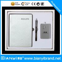 China Promotional Gift Promotional Recycled Paper Notebook Pen with Power bank gife Set on sale