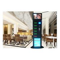 Hotel Free Charge Advertising Cell Phone Charging Vending Station With LEDs Manufactures