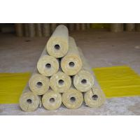 China Low Dust Rockwool Pipe Insulation , Mineral Wool Thermal Insulation Pipe on sale