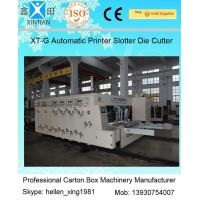 Buy cheap Speed 120 Pieces / Min Carton Making Machine Water Ink Flexo Printer Slotter from wholesalers