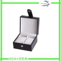 China Small Mens Watch Gift Boxes Packaging With Leather Handles wholesale