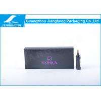 Black Coated Paper Eyelashes Packaging Box Book Shape With Purple Hot Stamping Manufactures