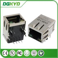 Shielded cat 5 RJ45 Modular Jack Single Port with magnetics, Cylindrical Pin