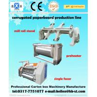 DW 1400 / 1600 Single Facer Corrugated Cardboard Box Making Machine ISO 9001 Manufactures