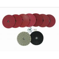 China Bright red wet polishing pads SP on sale