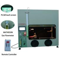 50W 500W Mitsubishi PLC Plastic Vertical Horizontal Flammability Tester UL94 Fire Chamber Manufactures