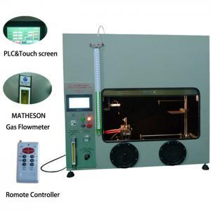 50W 500W Mitsubishi PLC Plastic Vertical Horizontal Flammability Tester UL94 Fire Chamber Manufactures