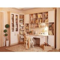 Study Table Home Office Bookcases , Corner Wall Book Shelf MDF board Manufactures