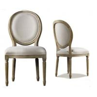 China Antique Commercial Restaurant Furniture Indoor Fabric Dining Room Chairs on sale