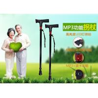 wholesale walking stick with mp3,aluminium alloy walking cane with mp3, multinational telescopic crutch, Manufactures