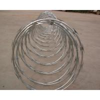 China High Protection Galvanized Barbed Wire Coil , Spiral Barbed Wire Fence BTO-18 wholesale