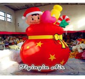 China Customized Red Inflatable Bag, Christmas Inflatable Box for Christmas wholesale