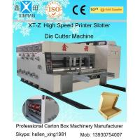 Flexo Printing Corrugated Carton Machinery With Stacker High Speed 100 Pcs / Min Manufactures