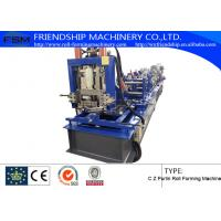 Hydraulic Punching and cutting C Z Purlin Roll Forming Machine With 15m/min Manufactures