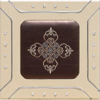 Professional Sculpted Mdf  leather Wall Panels , Decorative Interior Panels 400*400mm Manufactures