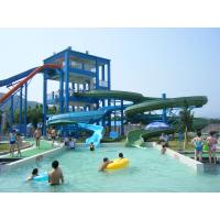 China Commercial Spiral Water Slide For Water Entertainment , Aqua Park Equipment wholesale