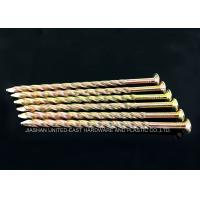 China Yellow Zinc Plated Twisted Shank Nails / Wooden Pallet Nails wholesale