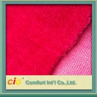 Top Printing Jacquard Faux / Synthetic Fur Fabric Strong Fashion For Garment Manufactures