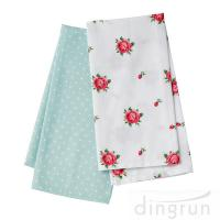China 100 Cotton Woven Kitchen Towels Flower Design Fast Dry Environment Friendly on sale