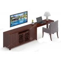 China Economic Flat Screen Tv Stands , Highly Endurable Solid Wood Tv Unit Customized on sale