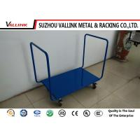 Buy cheap Tubular Welded Steel Construction Flat Bed Trolley With Double Open Ends from wholesalers